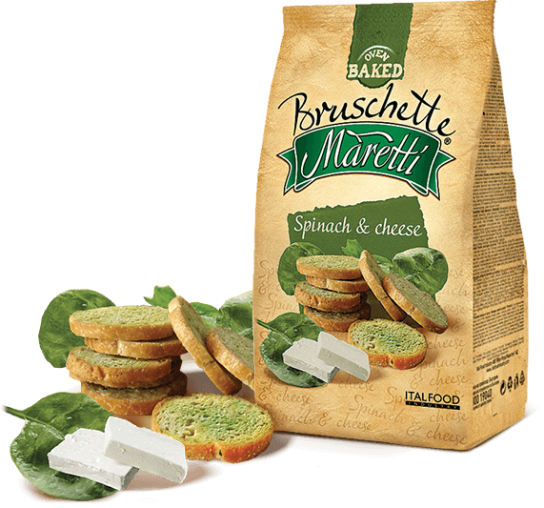 Bruschette Maretti Spinach & Cheese